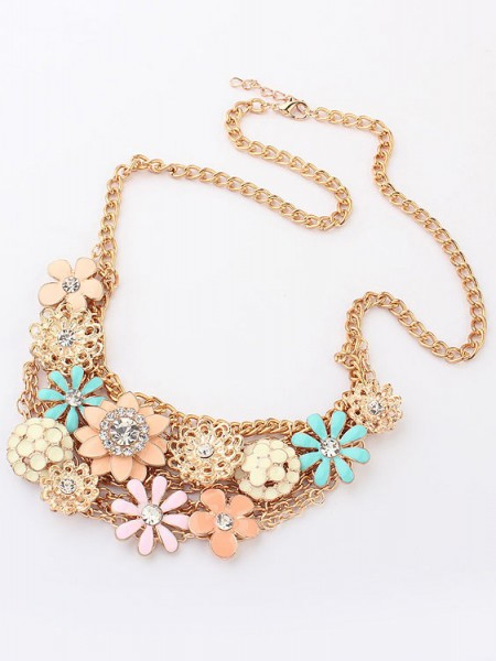 Korean version Zoet Fresh Bloems Metallic Hete verkoop Ketting